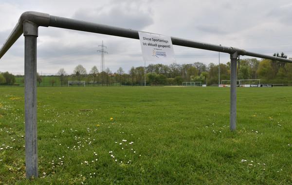 gesperrter Sportplatz